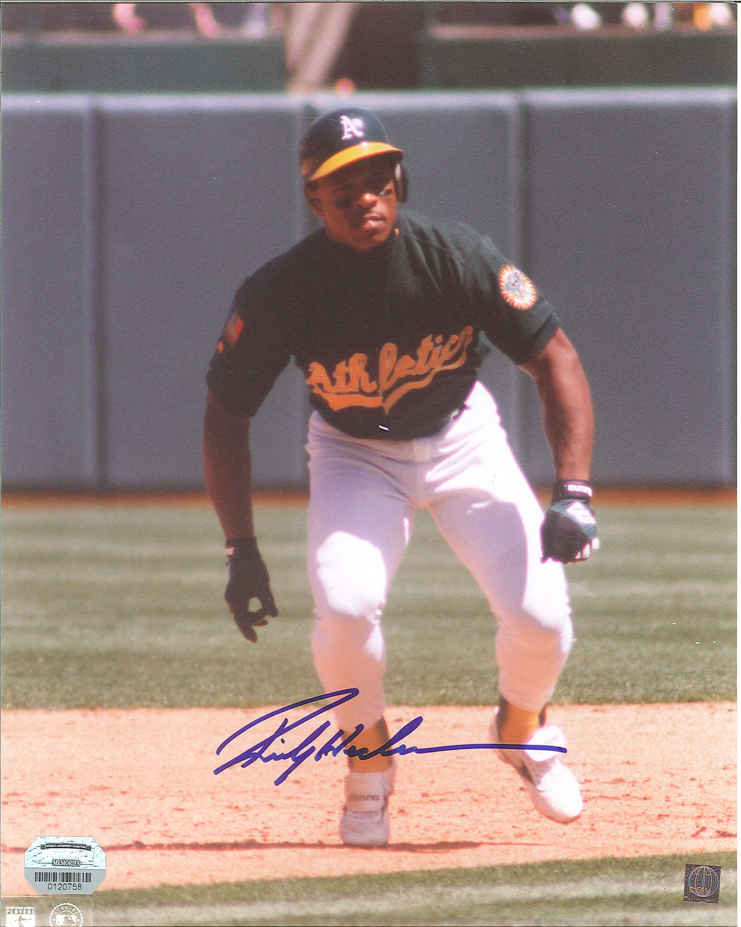 competitive price da671 19f7f Rickey Henderson Autographed Oakland Athletics 8 x 10 Photos