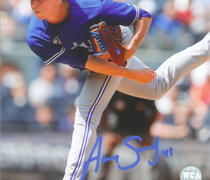 West_Coast_Authentic_MLB_Blue_Jays_Aaron_Sanchez_Autographed_Photo