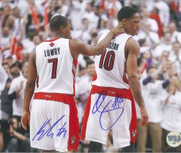 West_Coast_Authentic_NBA_Raptors_Kyle_Lowry_DeMar_DeRozan_Autographed_Photo