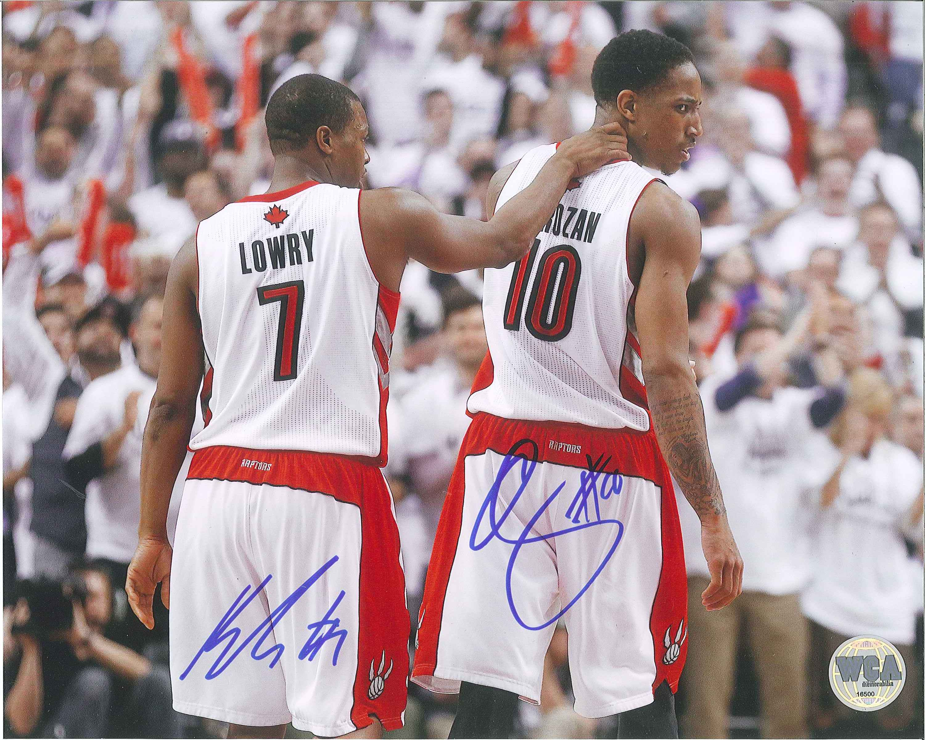 watch a25e6 00e3b DeMar DeRozan & Kyle Lowry Autographed Toronto Raptors 8 x 10 Photo