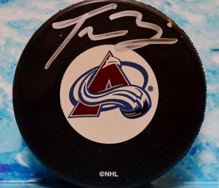 West_Coast_Authentic_NHL_Avalanche_Tyson_Barrie_Autographed_Hockey_Puck
