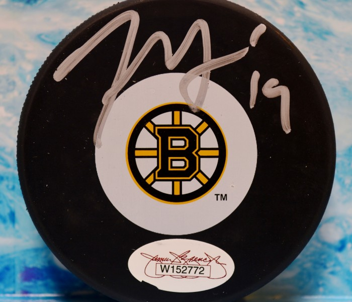 West_Coast_Authentic_NHL_Bruins_Tyler_Seguin_Autographed_Hockey_Puck