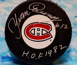 West_Coast_Authentic_NHL_Canadiens_Yvan_Cournoyer_Autographed_Hockey_Puck