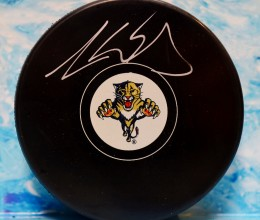 West_Coast_Authentic_NHL_Panthers_Aaron__ekblad_Autographed_Hockey_Puck