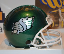 West_Coast_Authentic_CFL_Roughriders_Weston_Dressler_Autographed_Helmet(1)