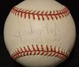 West_Coast_Authentic_MLB_Sparky_Lyle_Autographed_Baseball