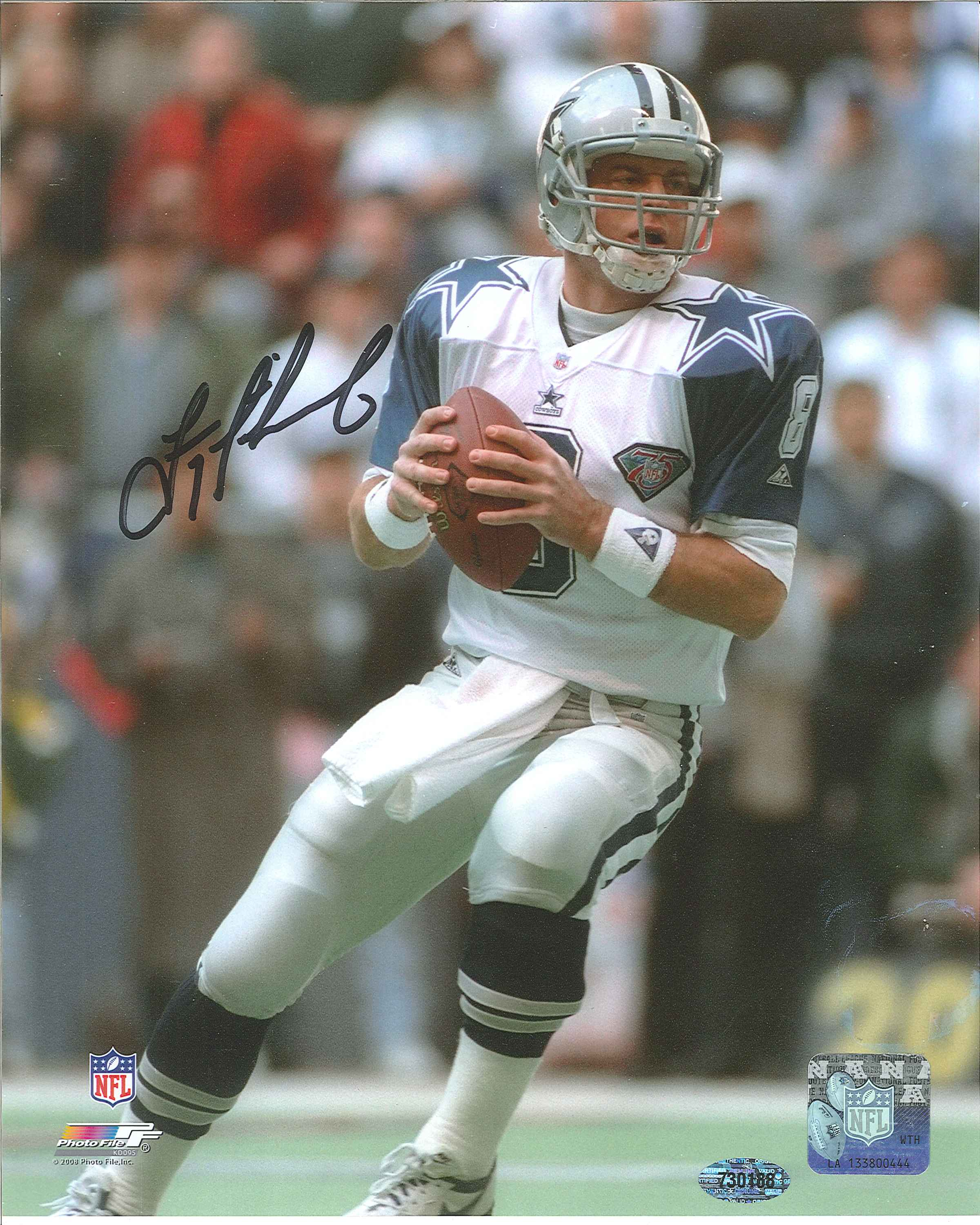 ... Troy Aikman Autographed Dallas Cowboys 8 x 10 Photo.  West Coast Authentic NFL Cowboys Troy Aikman Autographed Photo(2) 62f975ed3