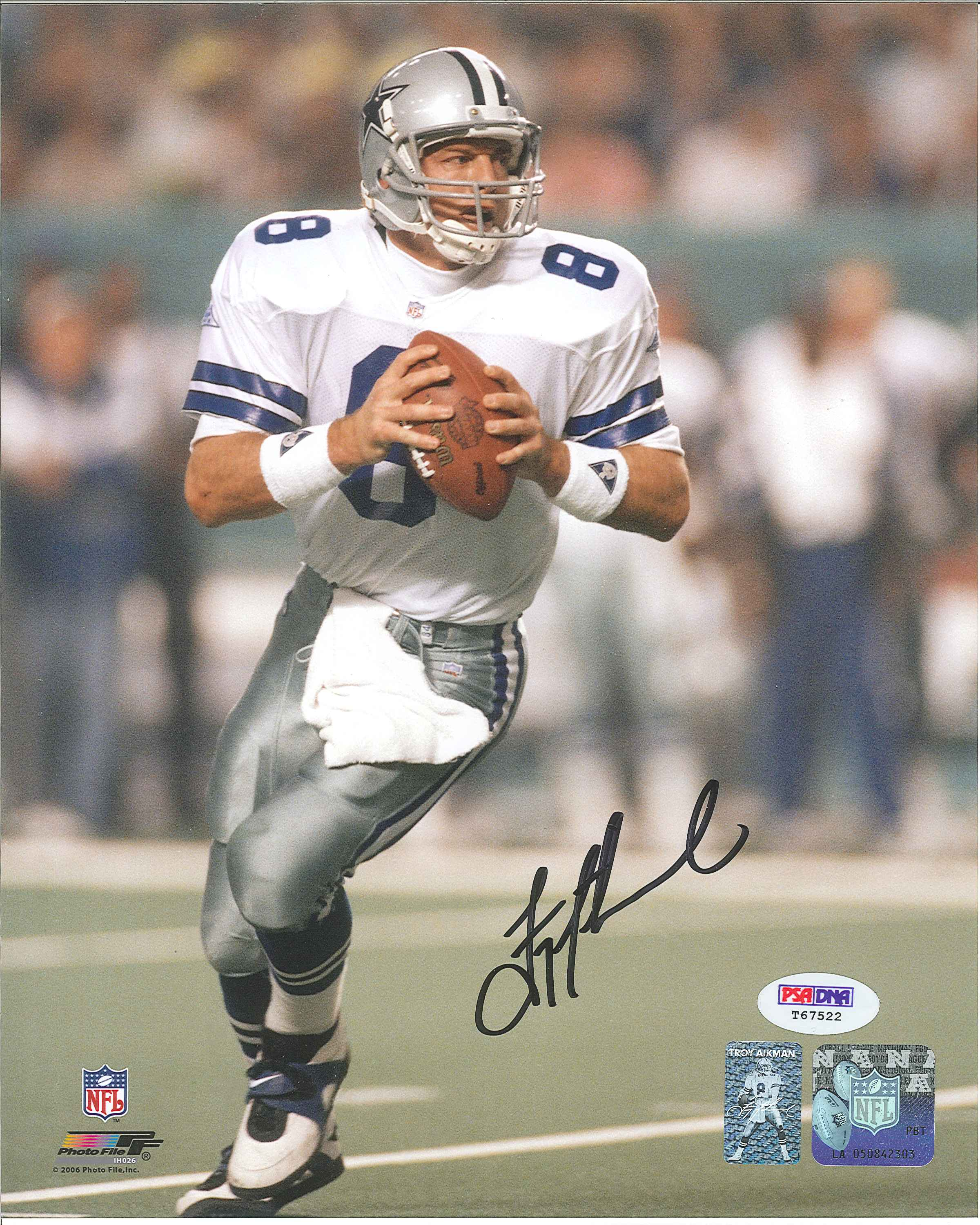 ... Troy Aikman Autographed Dallas Cowboys 8 x 10 Photo.  West Coast Authentic NFL Cowboys Troy Aikman Autographed Photo 6e5afa443