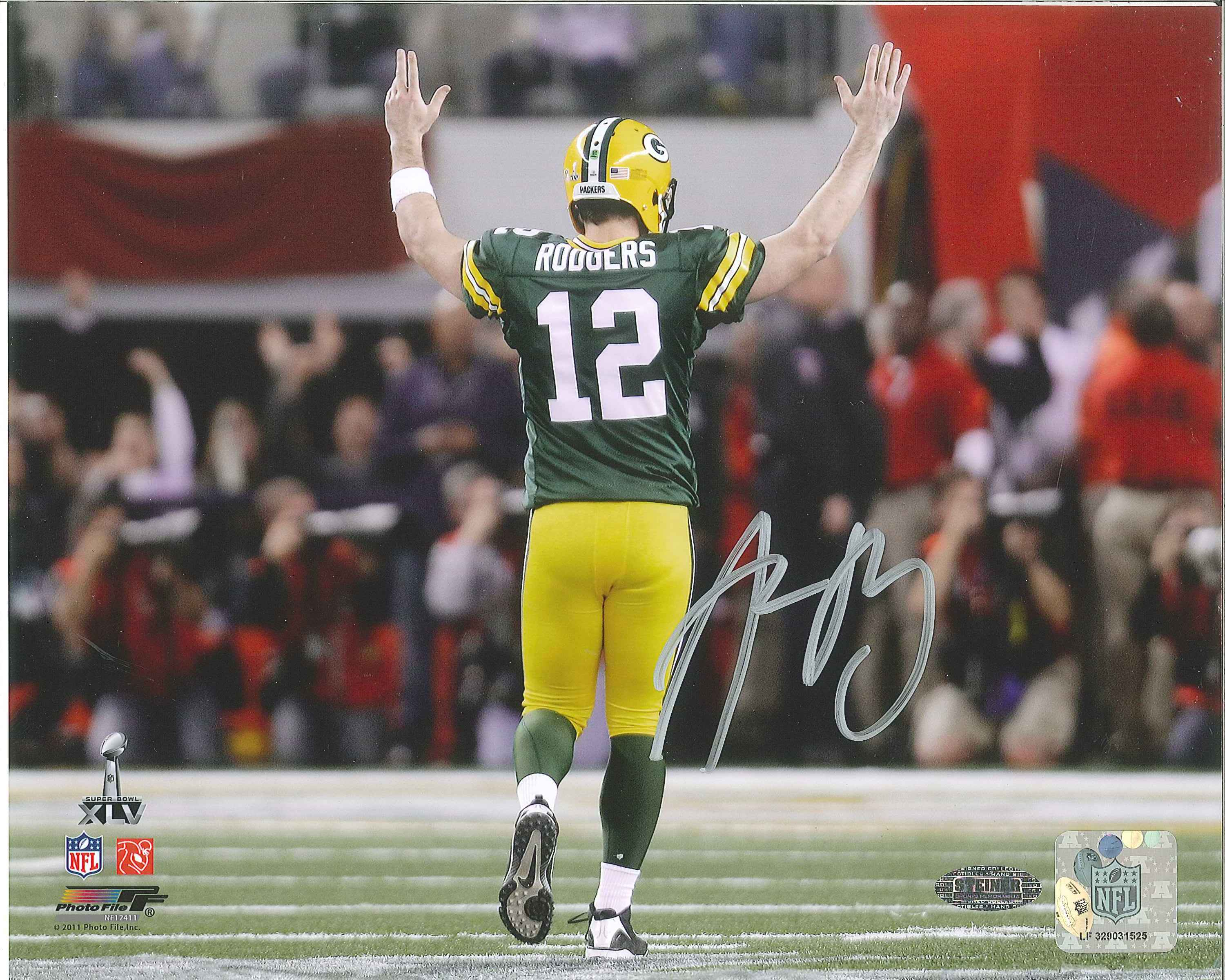 4df456743 ... Aaron Rodgers Autographed Green Bay Packers 8 x 10 Photo.  West Coast Authentic NFL Packers Aaron Rodgers Autographed Photo(2)