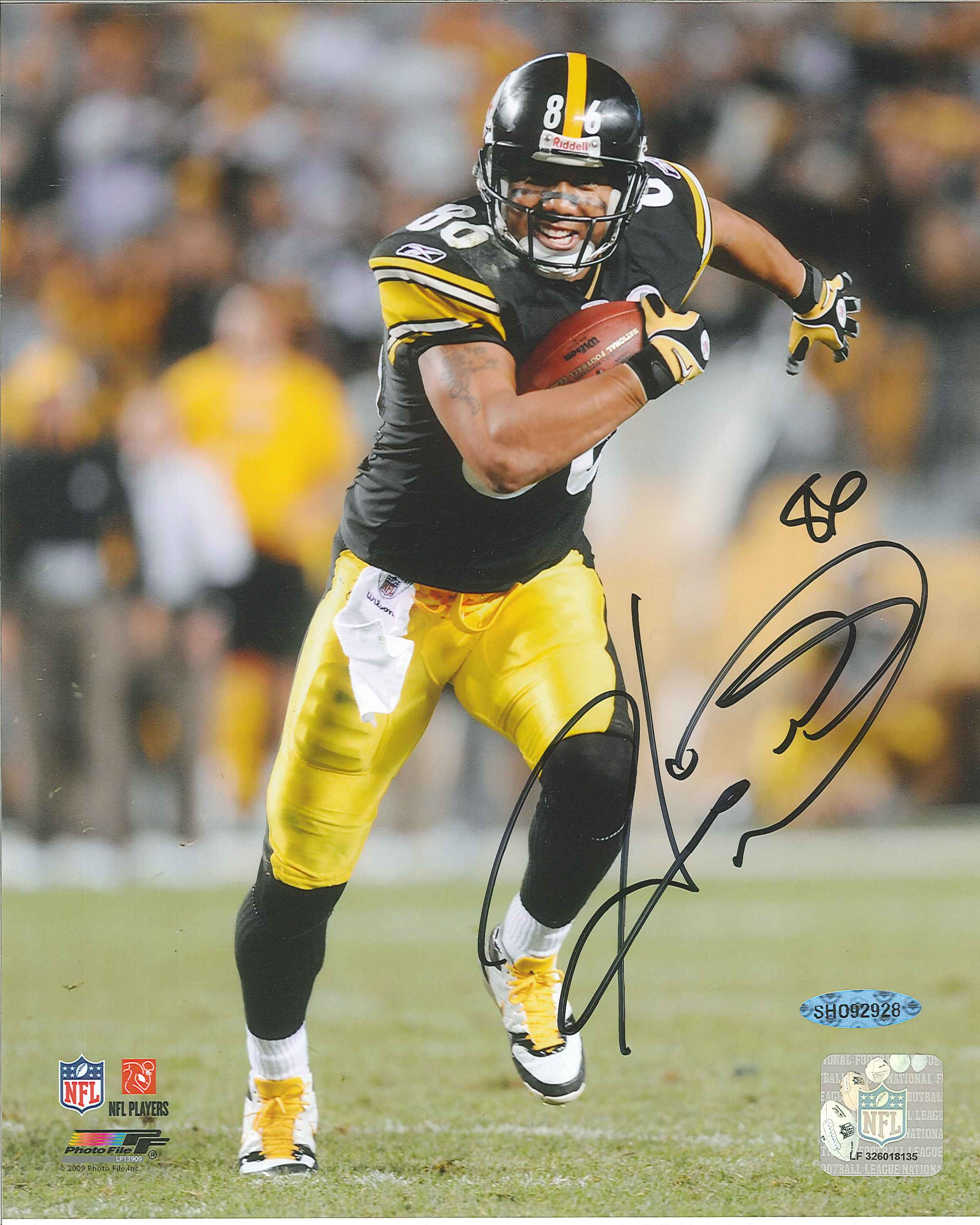 Hines Ward Autographed Pittsburgh Steelers 8 x 10 Photo