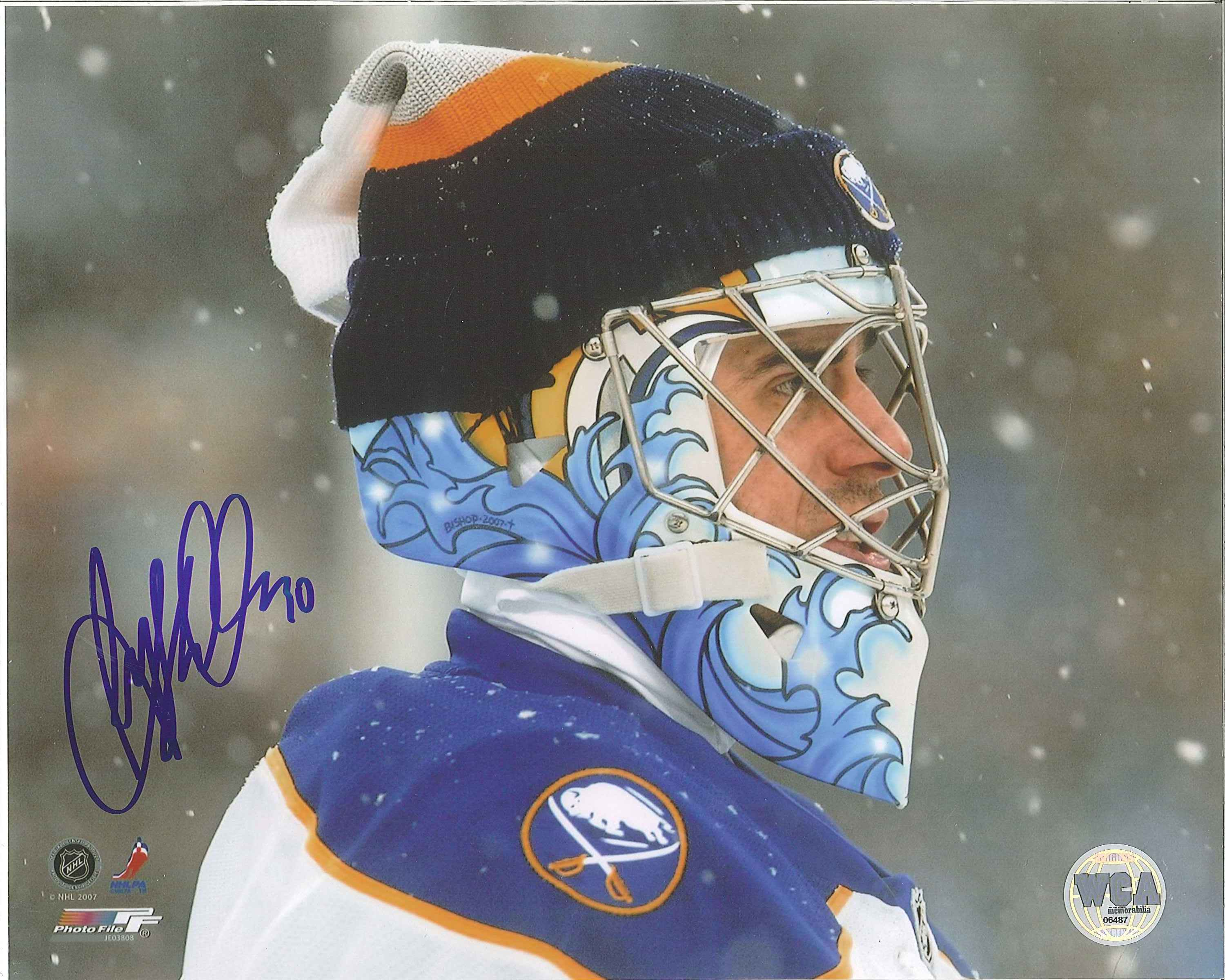 the latest 75dfd e3deb Ryan Miller Autographed Buffalo Sabres 8 x 10 Photo