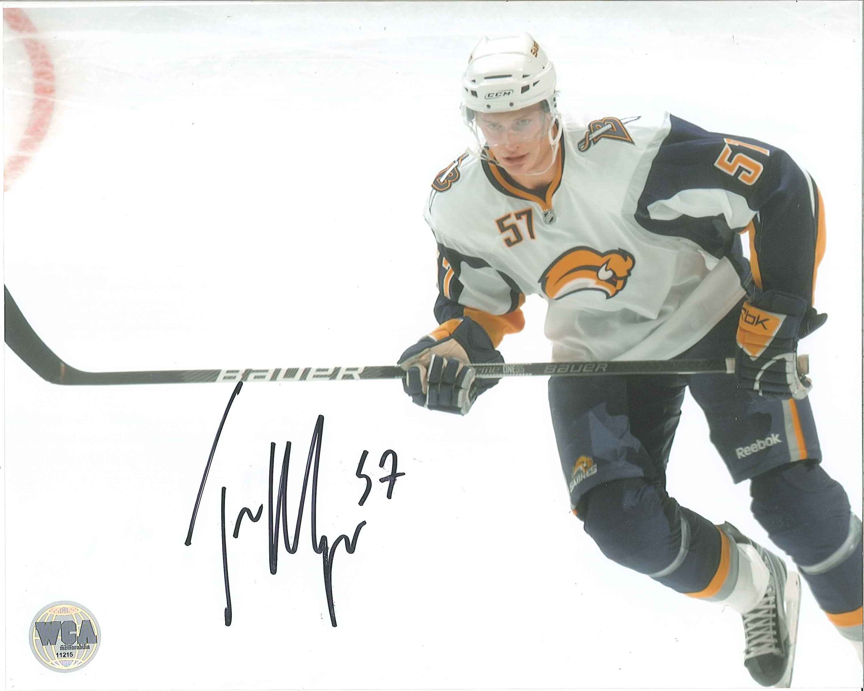 new arrivals 8ce05 40b2c Tyler Myers Autographed Buffalo Sabres 8 x 10 Photo