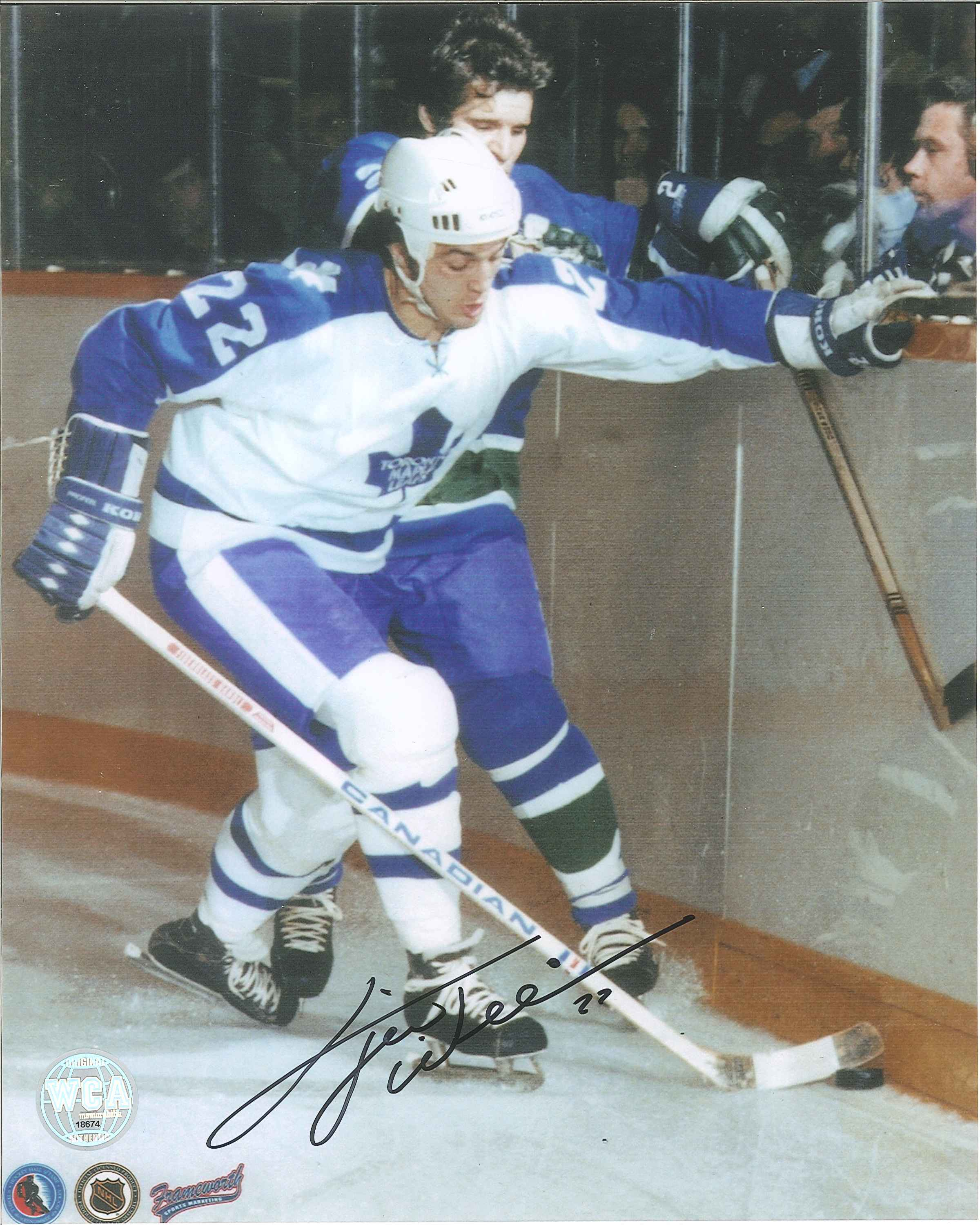 """new product 3f1bf 9c93b Dave """"Tiger"""" Williams Autographed Toronto Maple Leafs 8 x 10 Photo"""