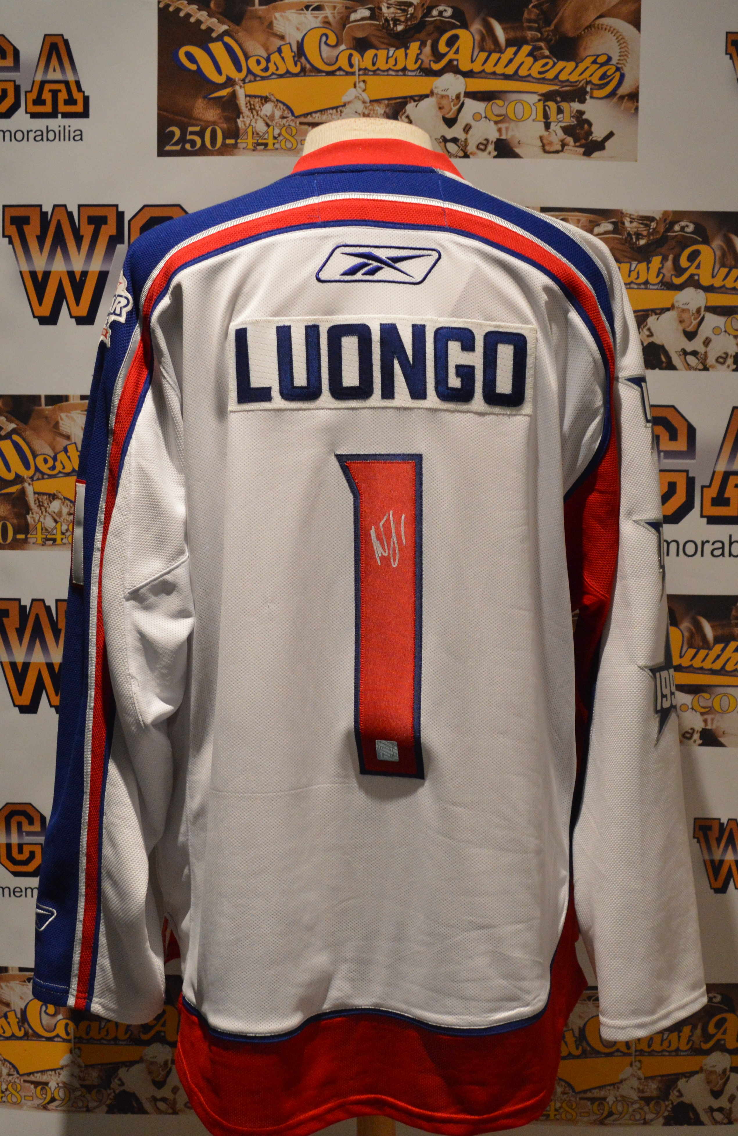 Roberto Luongo Autographed Nhl All Star Game Jersey