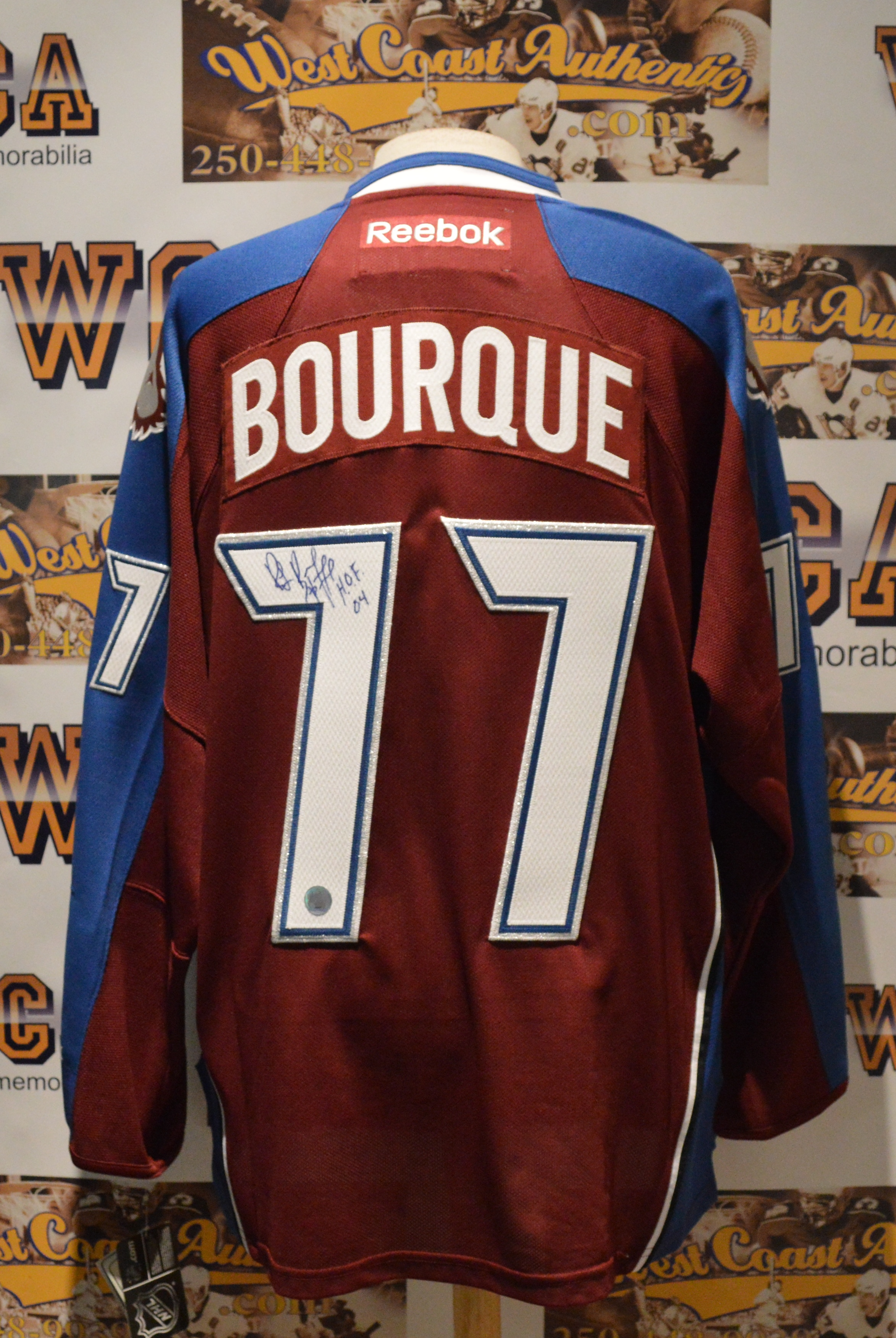 competitive price 43939 20766 Ray Bourque Autographed Colorado Avalanche Jersey