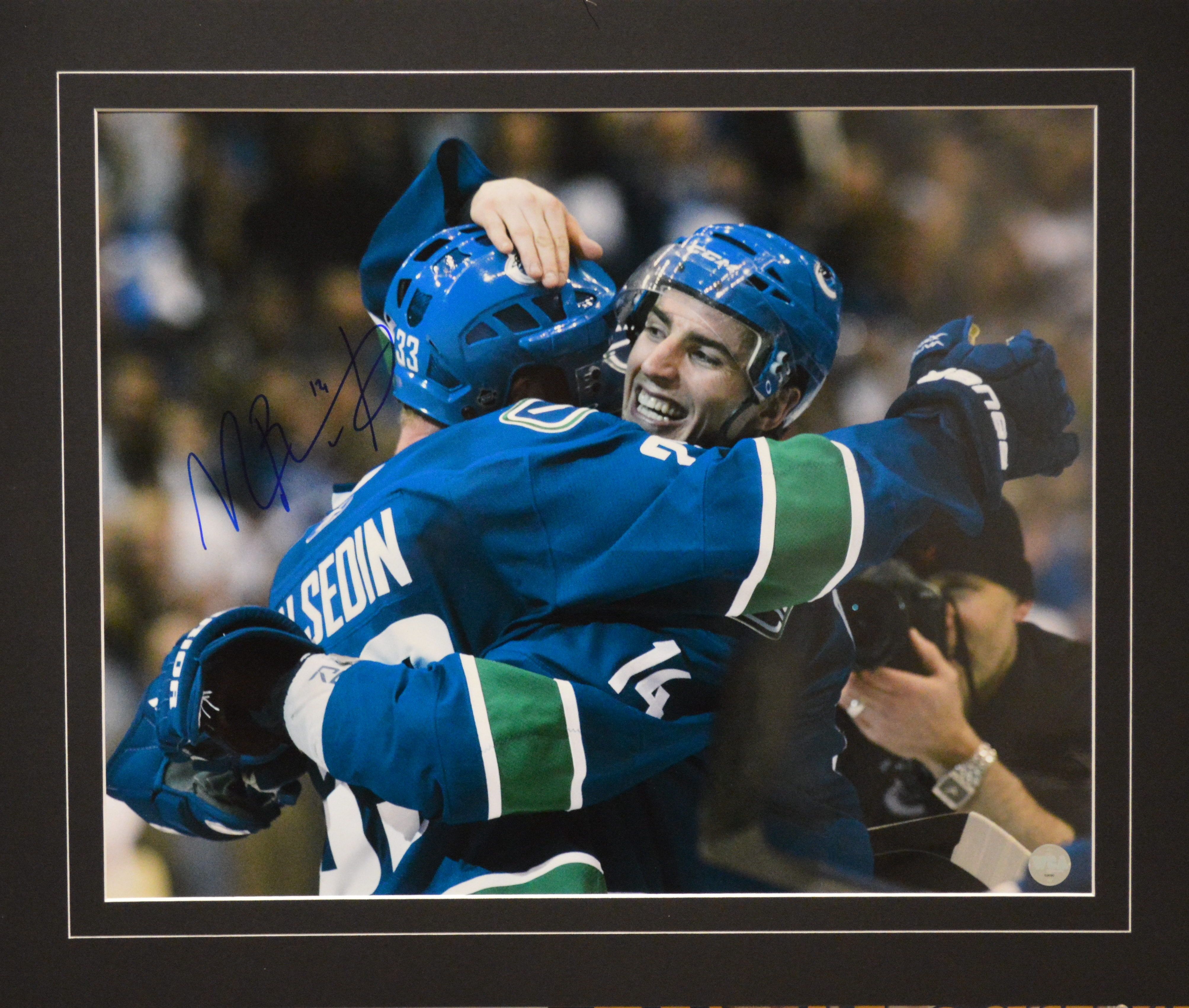 0cc959e122b ... Alex Burrows Autographed Vancouver Canucks 16 x 20 Photo.  West Coast Authentic NHL Canucks Alex Burrows Autographed Photo(1)