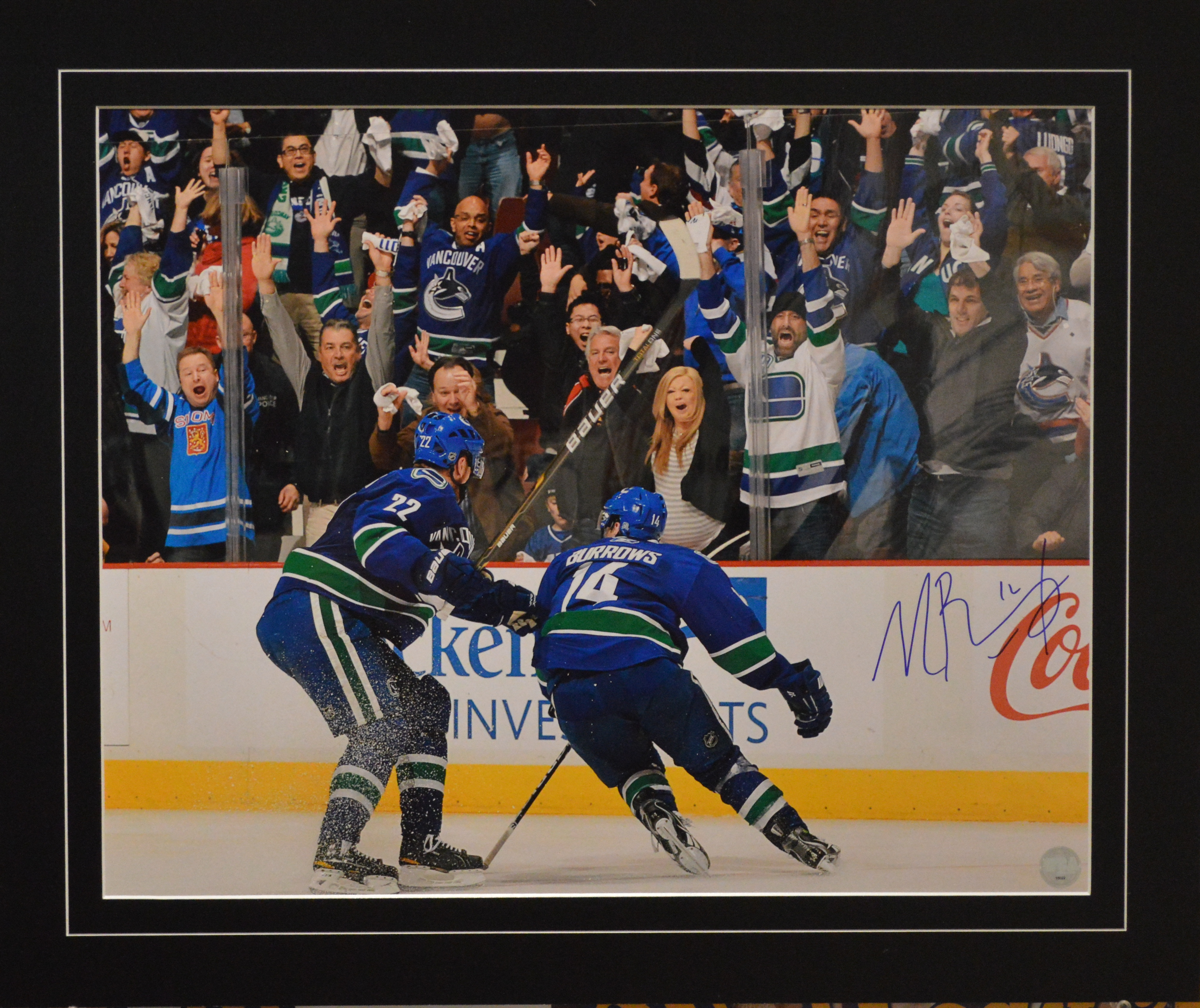 05729a6030e ... Alex Burrows Autographed Vancouver Canucks 16 x 20 Photo.  West Coast Authentic NHL Canucks Alex Burrows Autographed Photo(2)