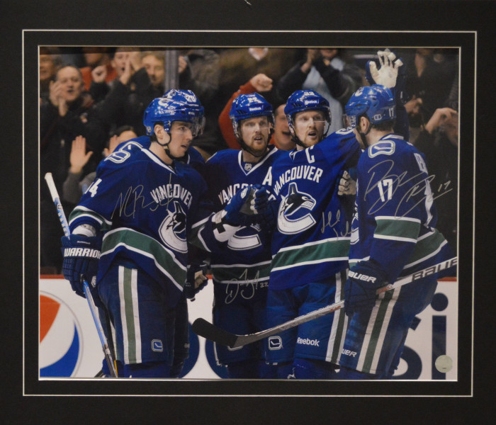 West_Coast_Authentic_NHL_Canucks_Alex_Burrows_Henrik_Sedin_Daniel_Sedin_Ryan_Kesler_Autographed_Photo(1)