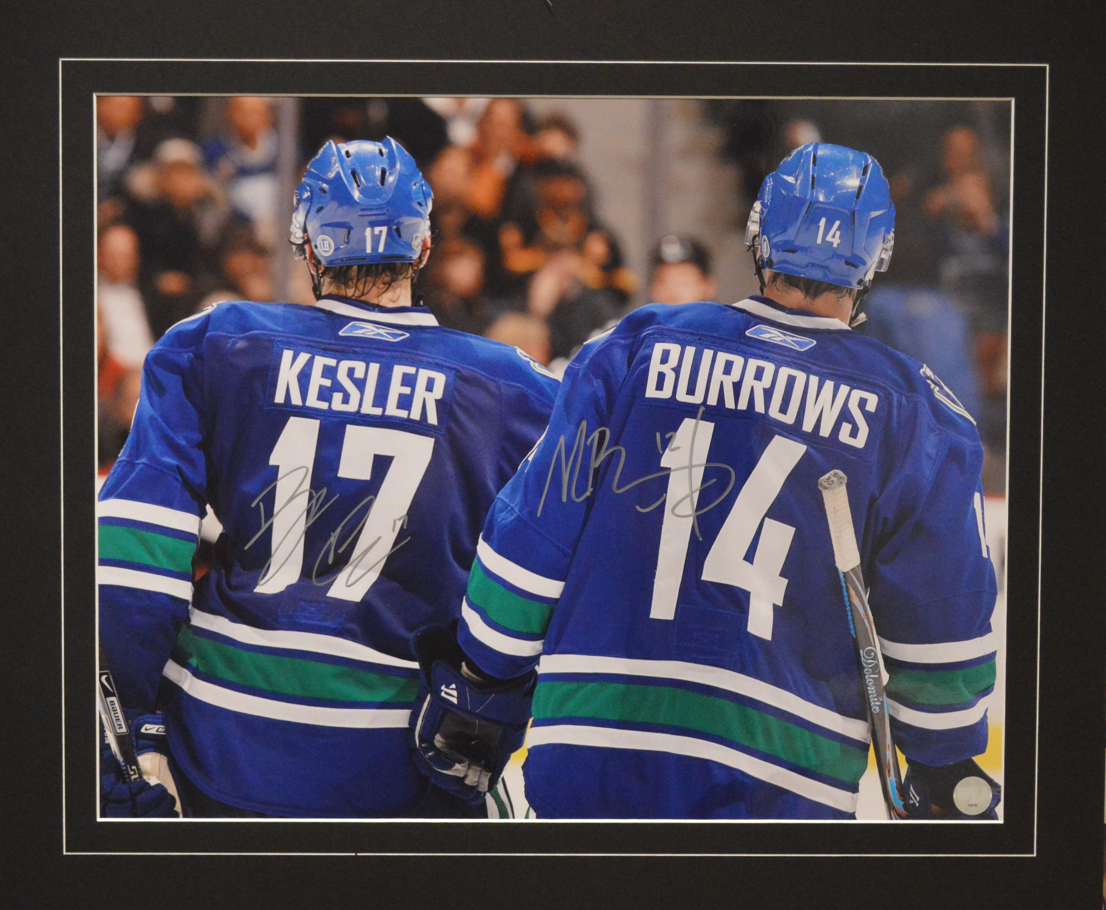 6ac3fed37a4 ... Alex Burrows Autographed Vancouver Canucks 16 x 20 Photo.  West Coast Authentic NHL Canucks Ryan Kesler Alex Burrows Autographed Photo(1)