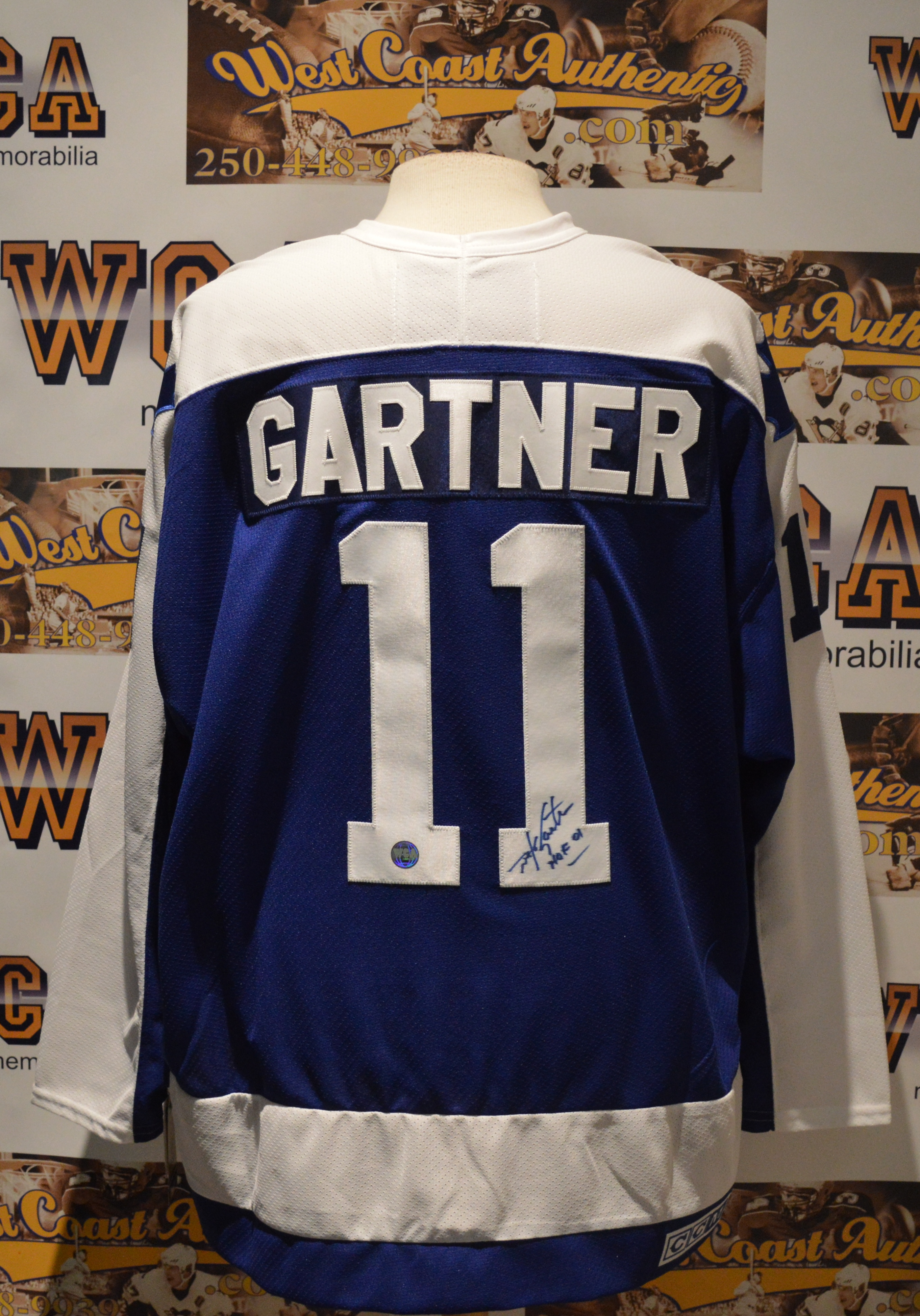 new arrival a5180 280ad Mike Gartner Autographed Toronto Maple Leafs Jersey