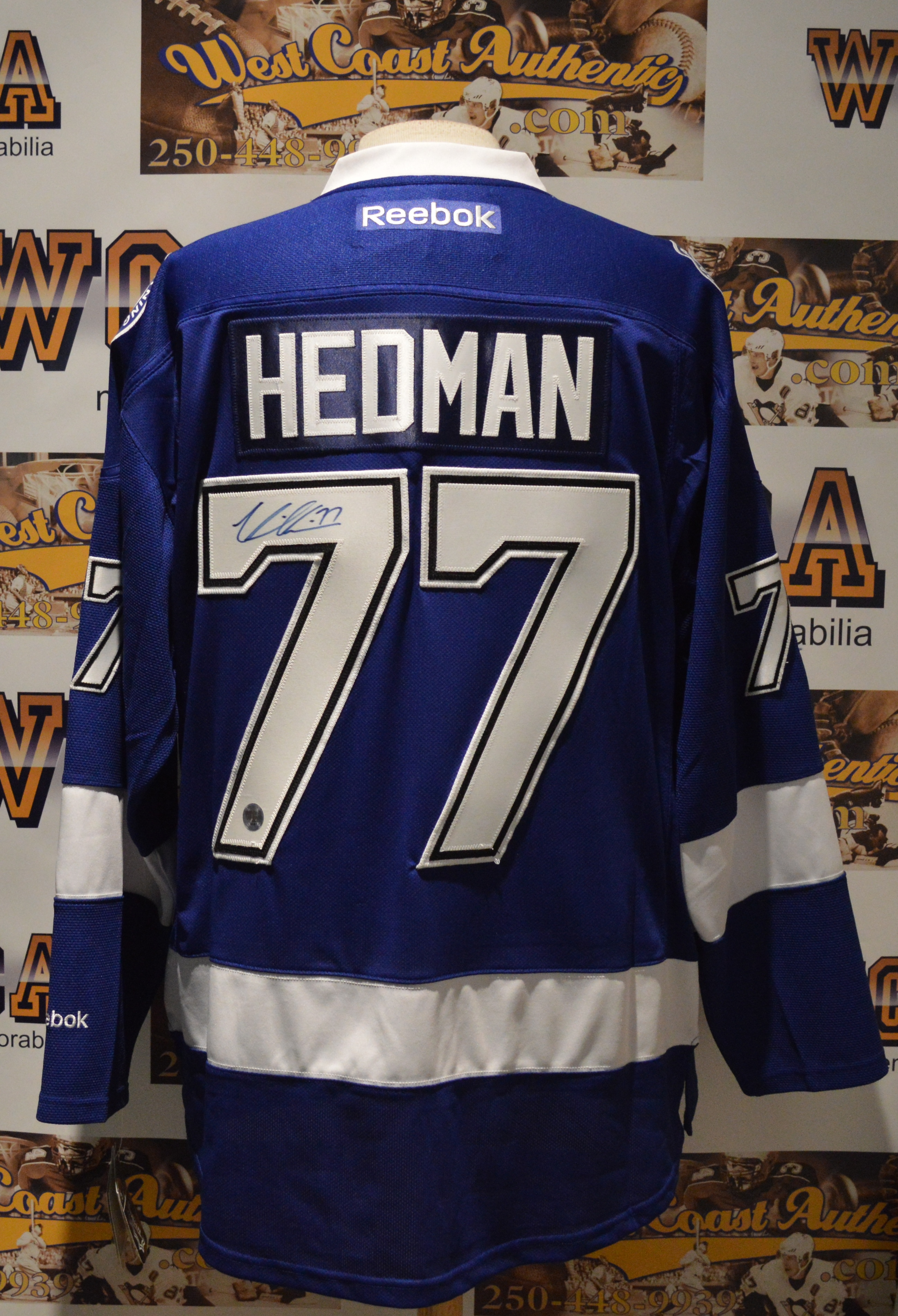 reputable site 726f4 63564 Victor Hedman Autographed Tampa Bay Lightning Jersey