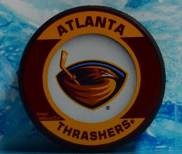 west_coast_authentic_nhl_thrashers_unsigned_puck