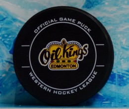 west_coast_authentic_whl_oil_kings_unsigned_pucks