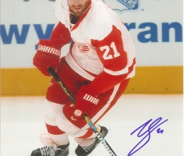 West_Coast_Authentic_NHL_Red_Wings_Ville_Leino_Autographed_Photo(1)