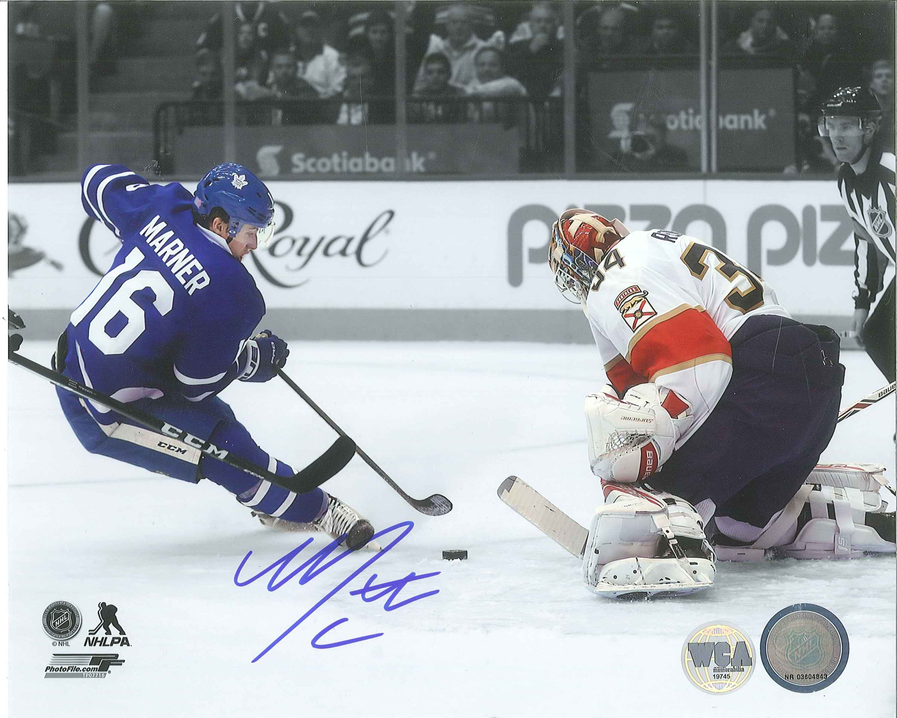 info for 2f8fc 16b54 Mitch Marner Autographed Toronto Maple Leafs 8 x 10 Photo