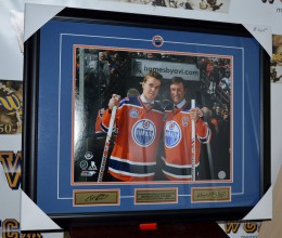 West_Coast_Authentic_NHL_Oilers_Connor_McDavid_Wayne_Gretzky_Autographed_Framed_Photo