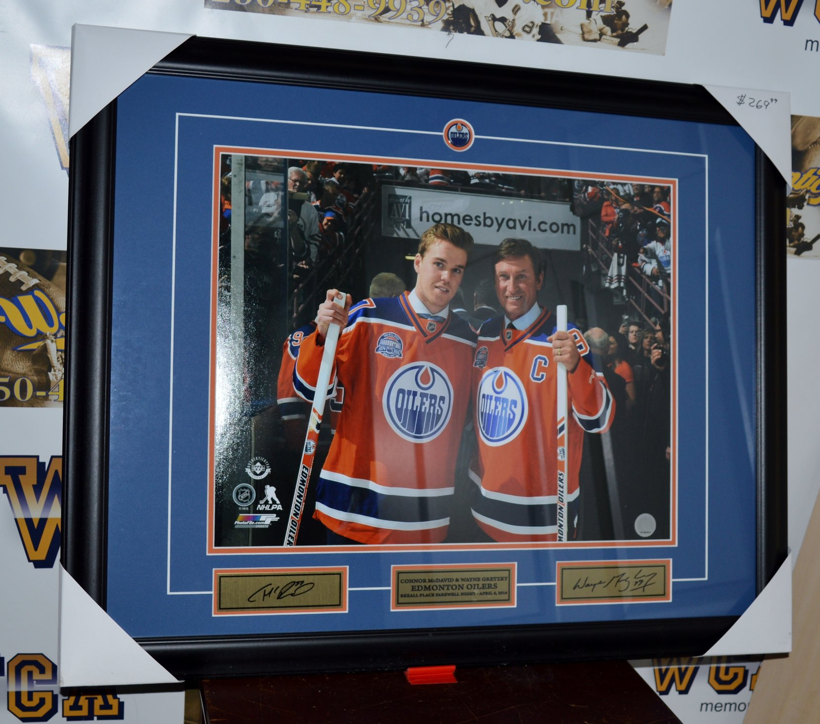 ... Wayne Gretzky Unsigned Edmonton Oilers Framed 16 x 20 Photo.  West Coast Authentic NHL Oilers Connor McDavid Wayne Gretzky Autographed Framed Photo bdfdde009