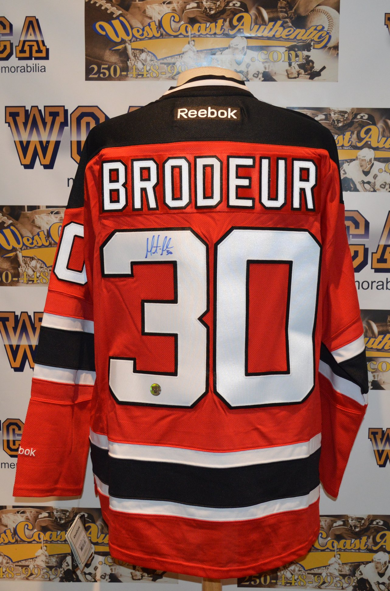 innovative design 8c4f6 9735a Martin Brodeur Autographed New Jersey Devils Jersey