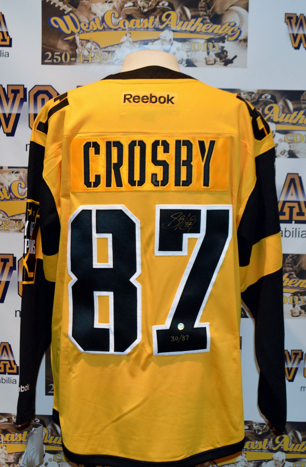 6ef7182e8 ... reduced stadium series pittsburgh penguins jersey.  rszwestcoastauthenticnhlpenguinssidneycrosbyautographedjersey2 e098d 6dcd2
