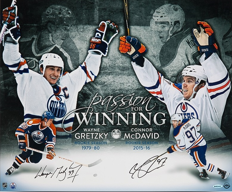 West Coast Authentic wayne-gretzky-connor-mcdavid-autographed -passion-for-winning- 79ece47df