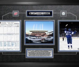 West_Coast_Authentic_NHL_Leafs_Centennial_Game_Framed_Photo