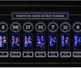 West_Coast_Authentic_NHL_Oilers_Retired_Numbers_Framed_Photo