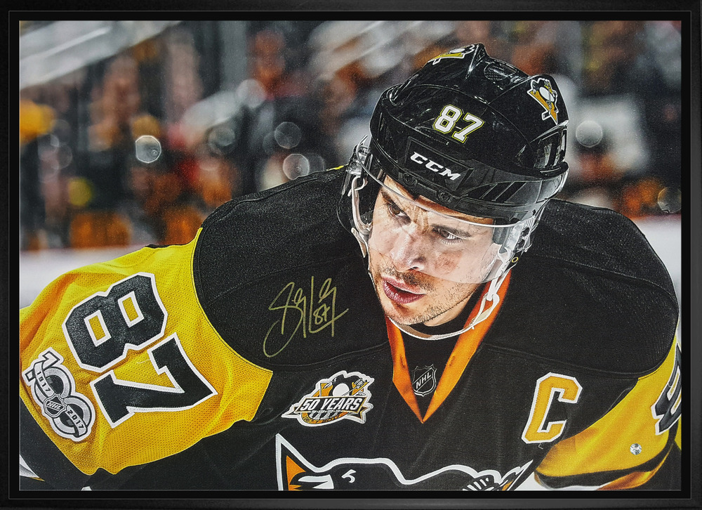 d8f07a50bc6 ... Sidney Crosby Autographed Pittsburgh Penguins 20 x 29 Canvas.  West Coast Authentic NHL Penguins Sidey Crosby Autographed Canvas