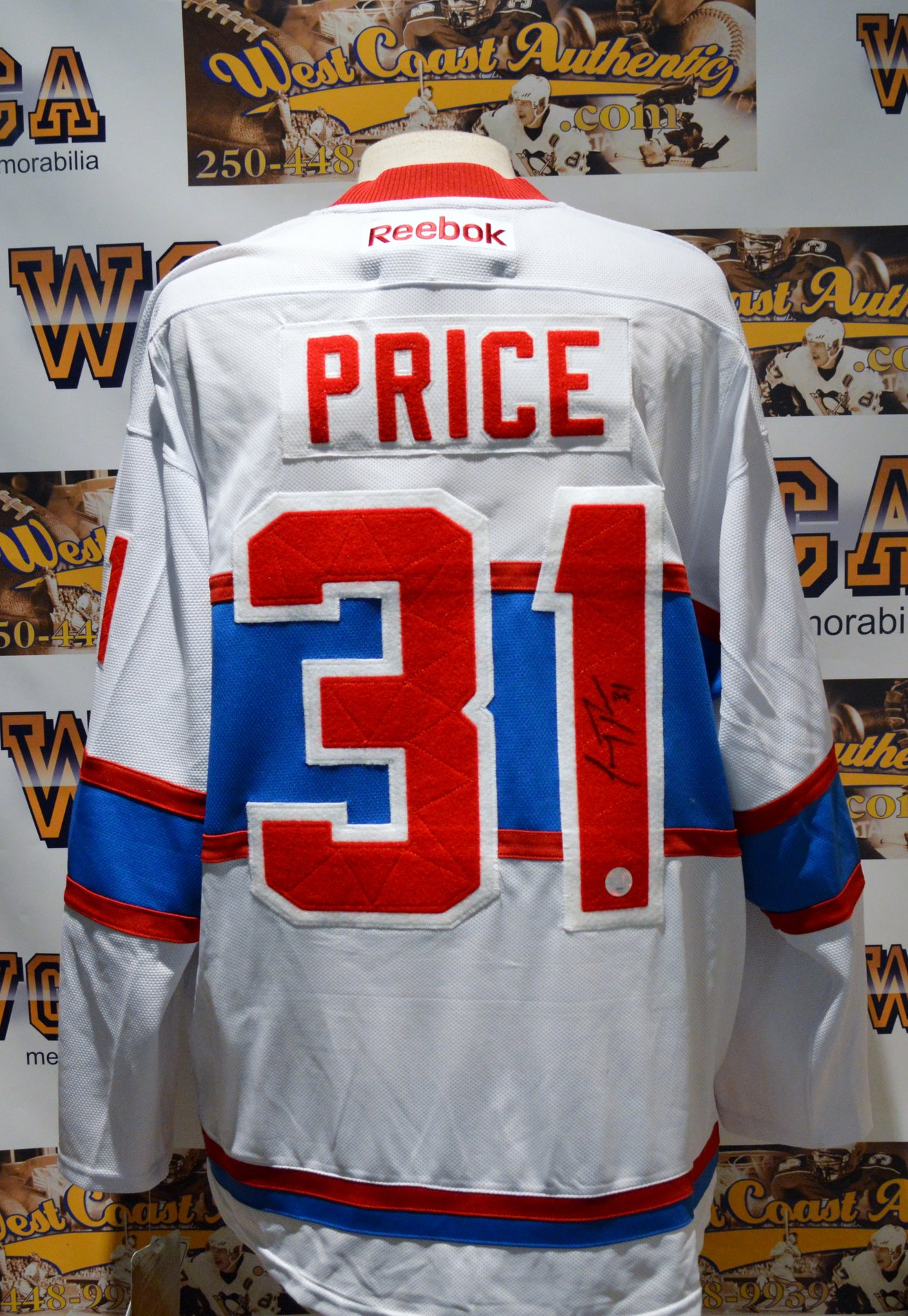 """info for f705b 47384 Carey Price Autographed Montreal Canadiens """"3rd"""" Jersey"""