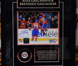 West_Coast_Authentic_NHL_Canadiens_Alex_Galchenyuk_Brendan_Gallagher_Autographed_Photo