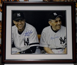 WestCoast_Authentic_MLB_Yankees_Derek_Jeter_Yogi_Berra_Autographed_Framed_Photo