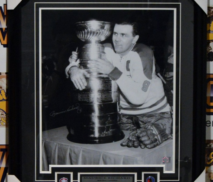 West_Coast_Authentic_NHL_Canadiens_Maurice_Richard_Autographed_Framed_Photo