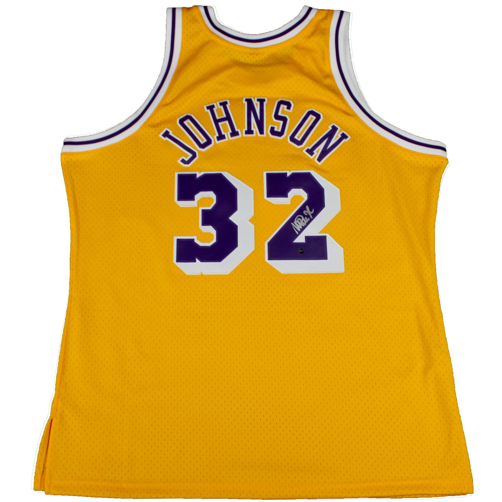 outlet store 9b219 b8113 Magic Johnson Autographed Los Angeles Lakers Jersey
