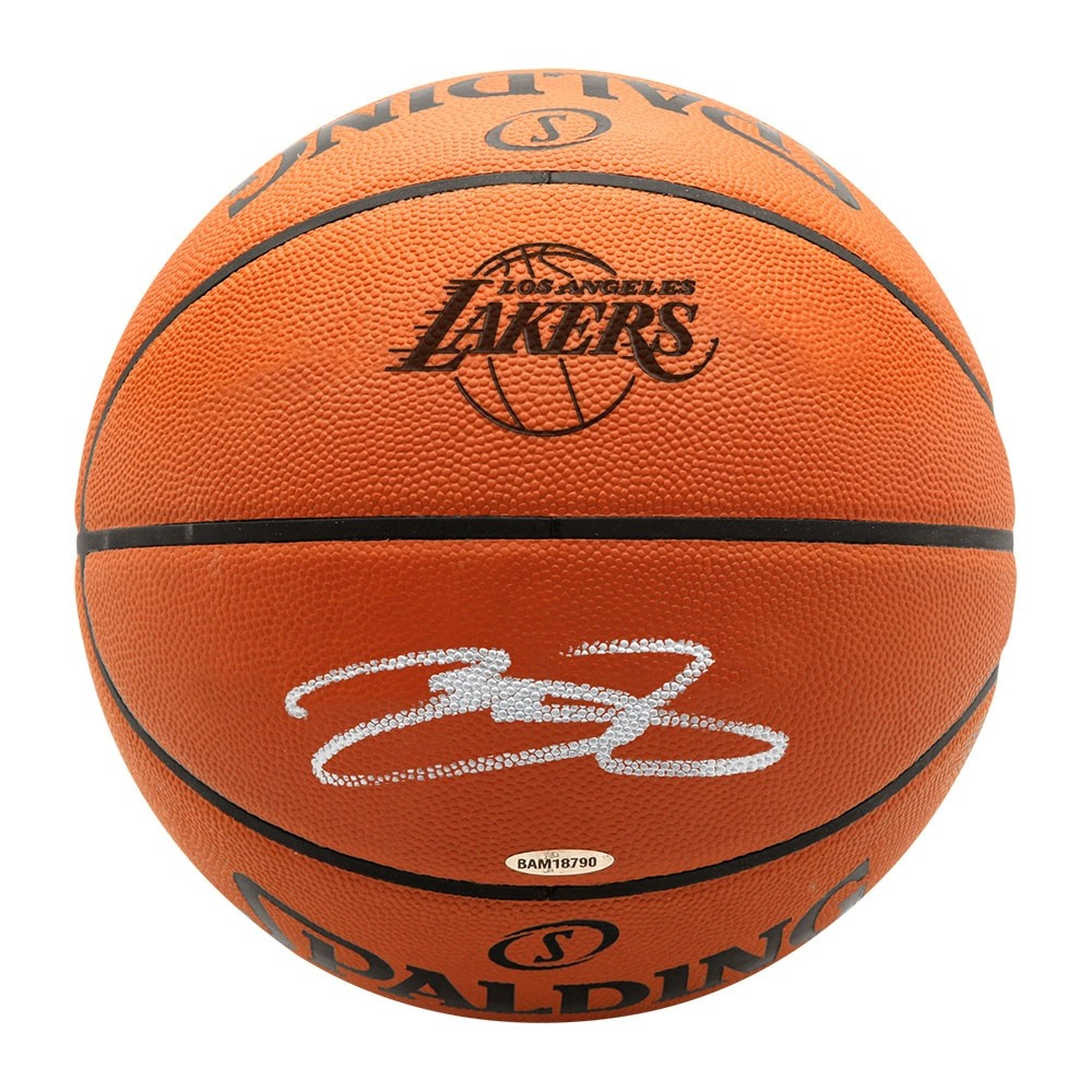 39ab234b016 Lebron James Autographed Los Angeles Lakers Basketball - Westcoast ...