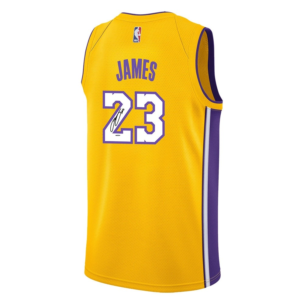 8fc797cc022 Lebron James Los Angeles Lakers Autographed Jersey - Westcoast ...