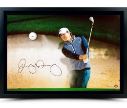 rory-mcilroy-autographed-breaking-through-sand-trap-80443