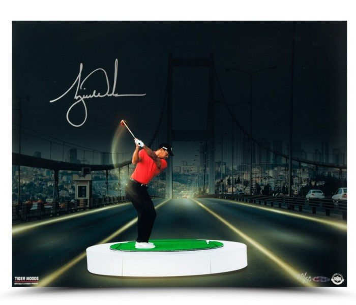 tiger-woods-autographed-bridge-at-night-print-83391