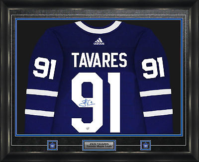various colors 45df5 a4482 John Tavares Autographed Toronto Maple Leafs Framed Jersey