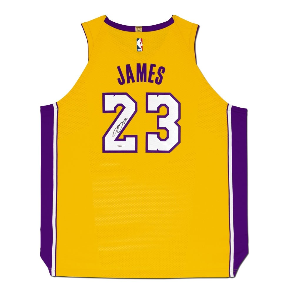 61704c7861b Lebron James Autographed Los Angeles Lakers Jersey - Westcoast ...