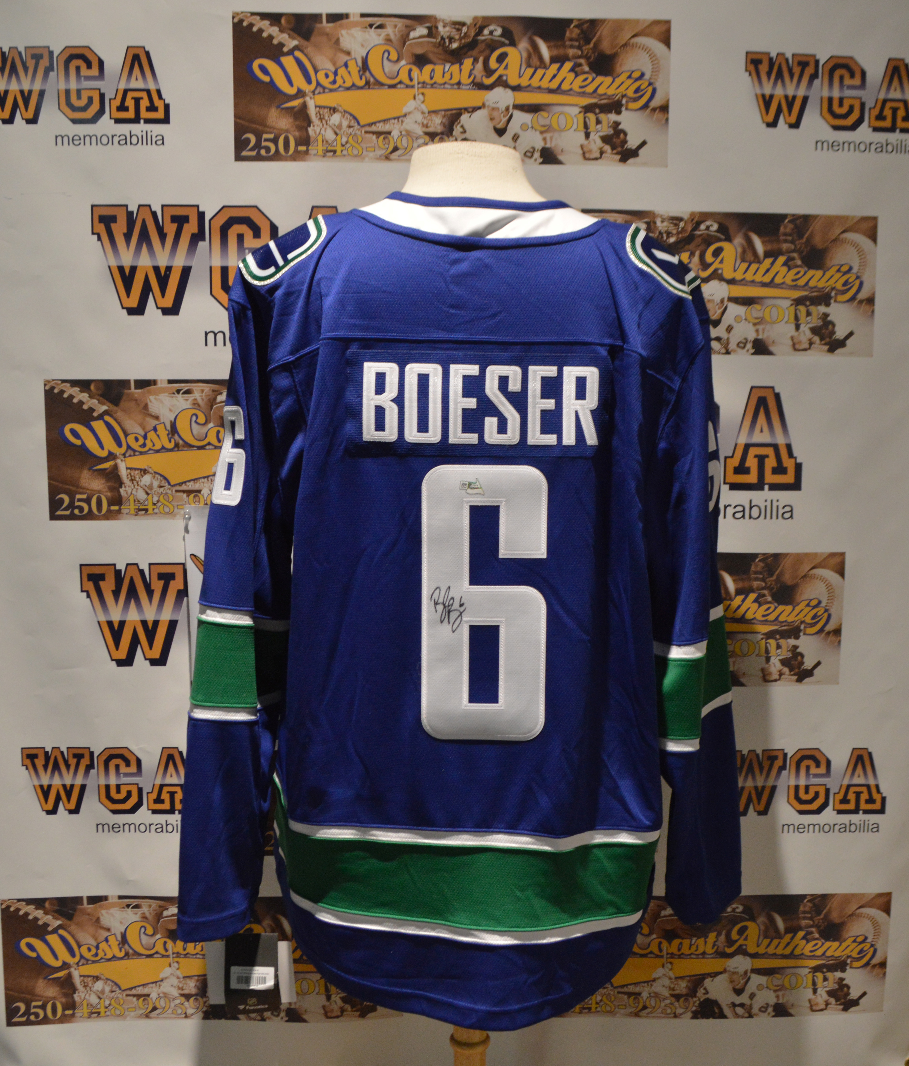 size 40 03992 94ae1 Brock Boeser Autographed Vancouver Canucks Jersey