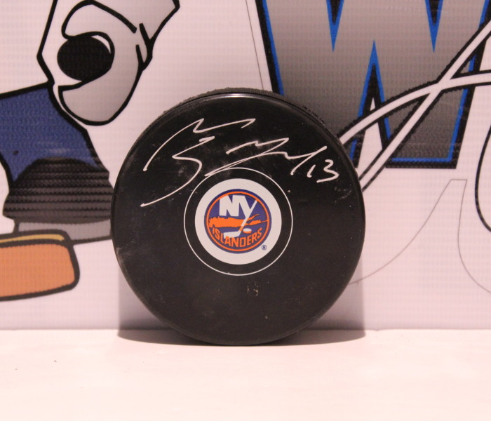 West_Coast_Authentic_NHL_Islanders_Mathew_Barzal_Autographed_Puck